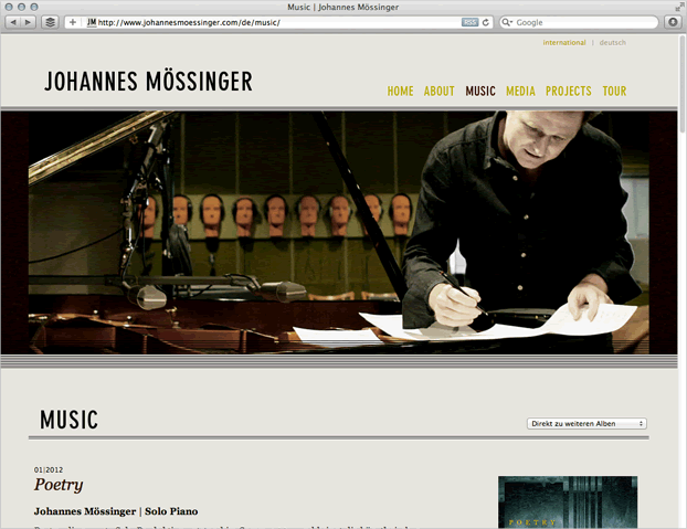 Referenz: Johannes Mössinger, Jazz-Pianist